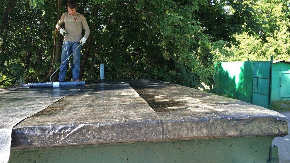 Ремонт крыши гаража Харьков